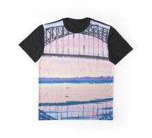 harbour bridge pink sunset Graphic T-Shirt