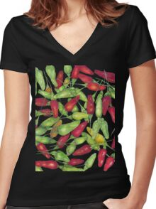 Chilly harvest-2 Women's Fitted V-Neck T-Shirt