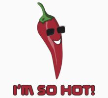I'm So HOT! Cayenne Red Chilli Pepper T-Shirt Sticker Kids Tee