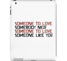 Love Me Do The Beatles 60s Rock Music Lyrics Lennon McCartney iPad Case/Skin