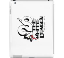 White Dragon - Black Outline Variant iPad Case/Skin