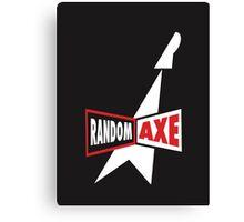 Random Axe Retro Logo Canvas Print