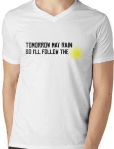I'll Follow The Sun The Beatles 60s Rock Music Song Lyrics Mens V-Neck T-Shirt