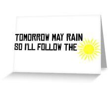 I'll Follow The Sun The Beatles 60s Rock Music Song Lyrics Greeting Card