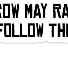 I'll Follow The Sun The Beatles 60s Rock Music Song Lyrics Sticker