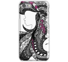 Ariel Stain glass grey and Pink iPhone Case/Skin