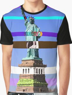 NYC Statue of Liberty 'Distortion' Graphic Tee Graphic T-Shirt