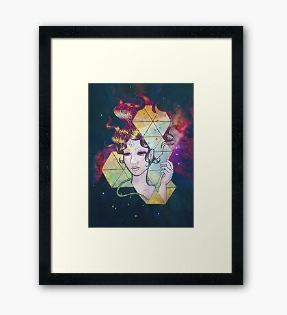 Geode Lady Framed Print