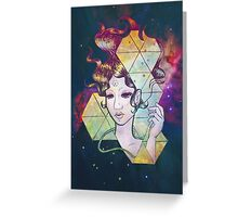 Geode Lady Greeting Card