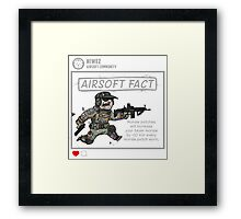 Airsoft Fact 1 Framed Print
