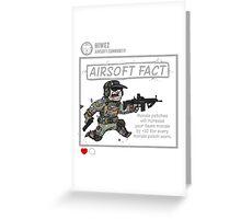 Airsoft Fact 1 Greeting Card