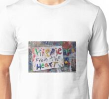 hippie from the heart Unisex T-Shirt