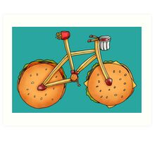 Burger & Frycycle Art Print