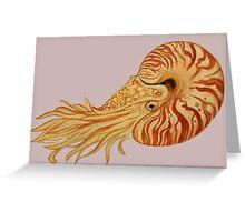 Watercolor Nautilus Greeting Card