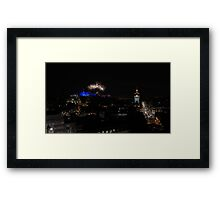 Edinburgh Military Tattoo Fireworks Arc Framed Print