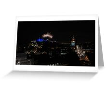 Edinburgh Military Tattoo Fireworks Arc Greeting Card