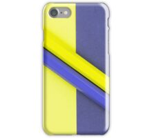 Yellow and Violet coloured pencils and paper iPhone Case/Skin