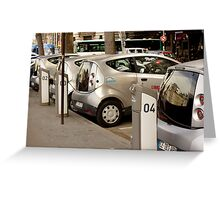 Electric Cars for Rent in Paris Greeting Card