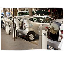 Electric Cars for Rent in Paris Poster