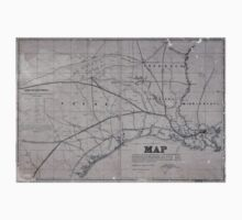 0315 Railroad Maps Map exhibiting the fixed location of the main trunk of the New-Orleans Opelousas Great Western Railroad of Louisiana together with its proposed branches Baby Tee
