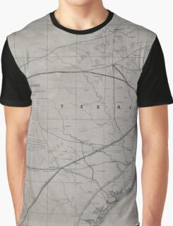 0315 Railroad Maps Map exhibiting the fixed location of the main trunk of the New-Orleans Opelousas Great Western Railroad of Louisiana together with its proposed branches Graphic T-Shirt