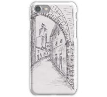 Italian Historic Town Sketch 2 iPhone Case/Skin