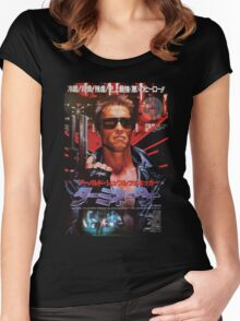 Terminator Japanese Poster Women's Fitted Scoop T-Shirt