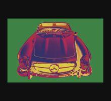 Mercedes Benz 300 SL Convertible Pop Art Baby Tee