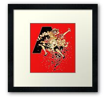 Ace and Luffy Framed Print