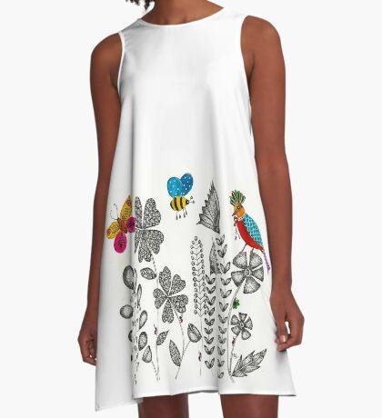 Flower garden A-Line Dress