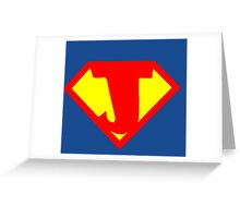 Super Monogram J Greeting Card