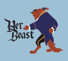 Her Beast - Beauty and the Beast Couples Shirt for Men by rockinbass85