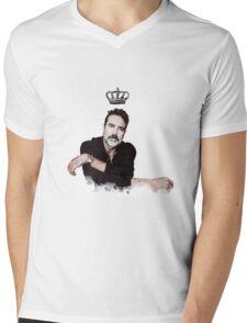JDM crown print Mens V-Neck T-Shirt