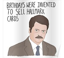 Ron Swanson Parks and Recreation Birthday quote Poster