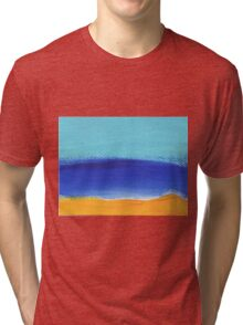 Beach and sunny landscape by the sea Tri-blend T-Shirt