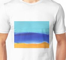 Beach and sunny landscape by the sea Unisex T-Shirt