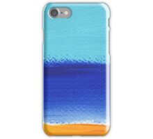 Beach and sunny landscape by the sea iPhone Case/Skin