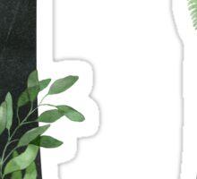 Monogram U with Floral Wreath Sticker