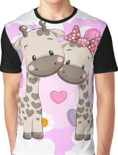 Two cute giraffes Graphic T-Shirt