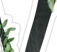 Monogram V with Floral Wreath Sticker