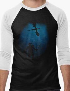 Under a Sky Ruled by Dragons Men's Baseball ¾ T-Shirt