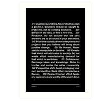 Manifesto - Black Art Print