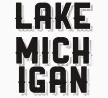 Lake Michigan (Black) by fandomtshirtss