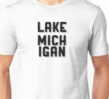 Lake Michigan (Black) Unisex T-Shirt