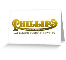 Phillips Vintage Bicycles UK Greeting Card