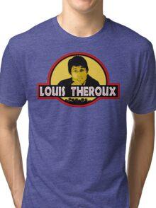 """Jurassic Louis"" Jurassic Park Louis Theroux T Shirt BBC Tri-blend T-Shirt"