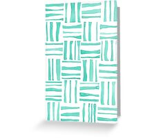 Mint Woven Watercolor Greeting Card