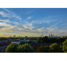 London skyline at sunset Photographic Print