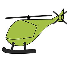 Green Helicopter by kwg2200