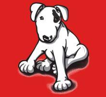 Bull Terrier Puppy Black Eye Patch  One Piece - Short Sleeve